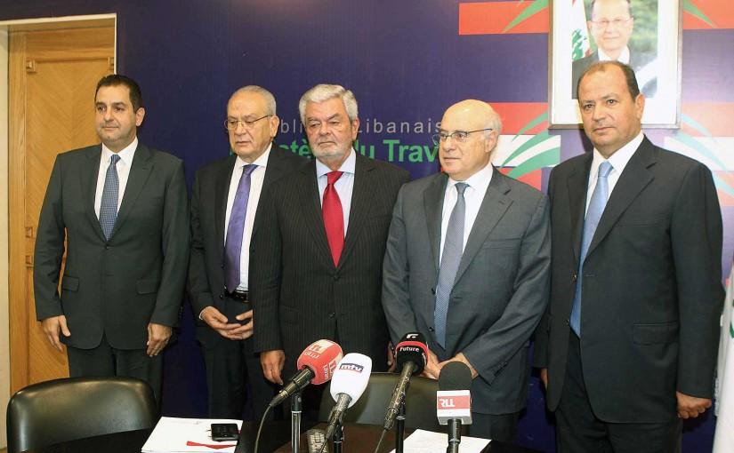 Minister Kamil abou Sleiman meets a Delegation from Hotel Syndicate