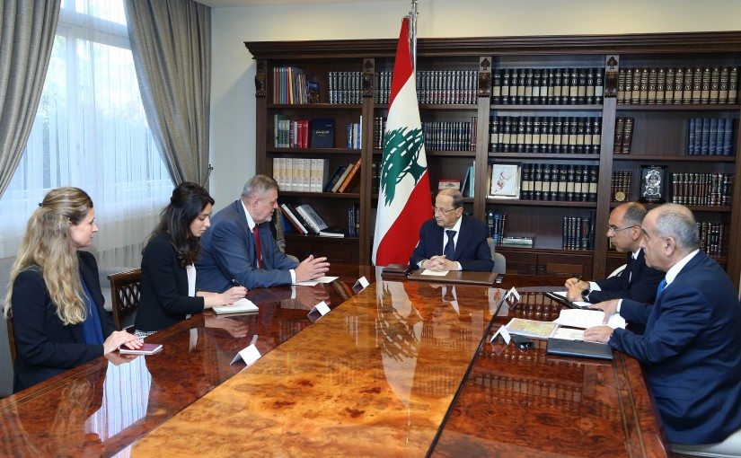 President Michel Aoun meets Mr. Jan Kubis UN Special Coordinator for Lebanon.