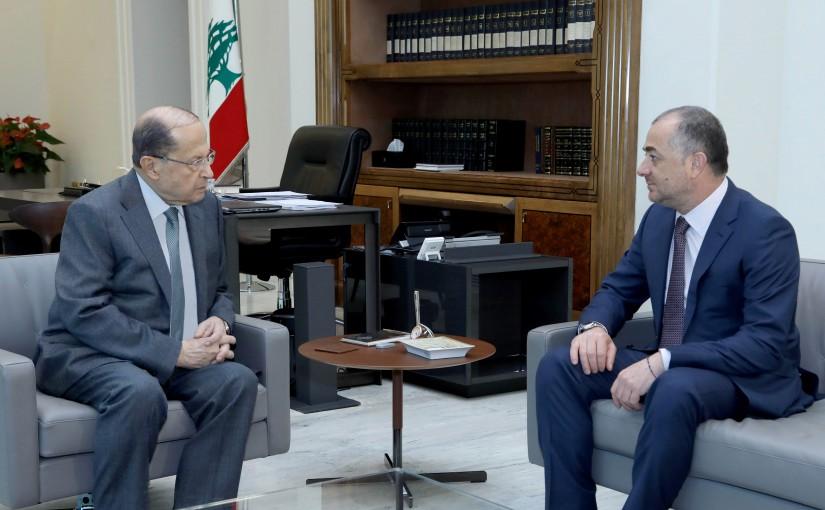 President Michel Aoun meets Minister Elias Bou Saab.