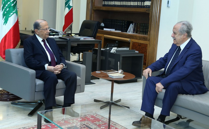 President Michel Aoun meets Mr. Joseph Sassine.