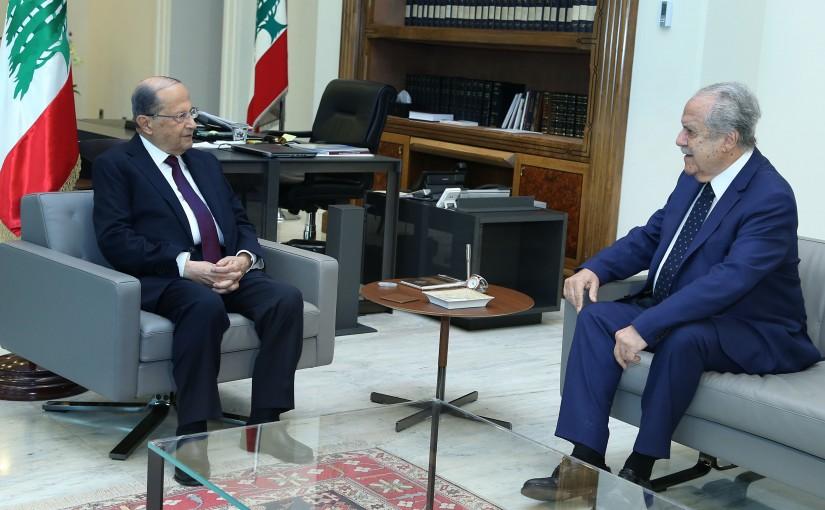 President Michel Aoun meets Mr. Joseph Sassine.