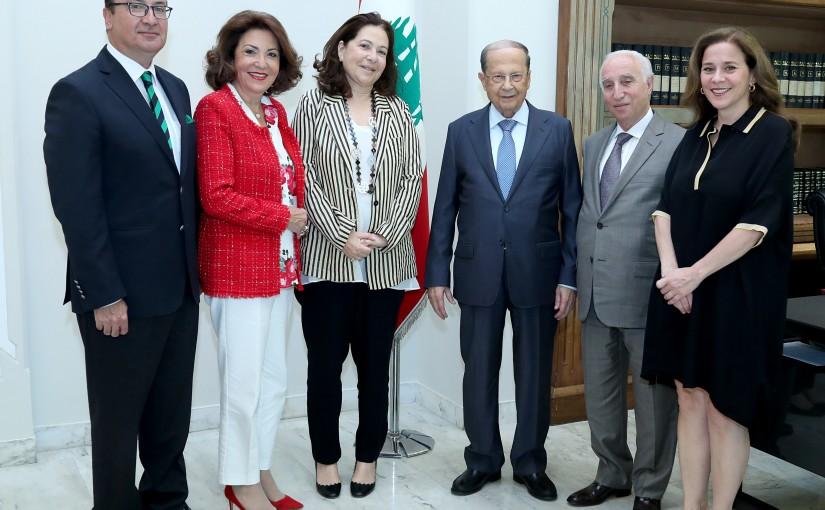 President Michel Aoun meets Ms. Nayla de Freij.