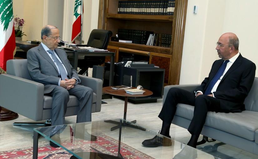 President Michel Aoun meets Former MP Mansour AlBon