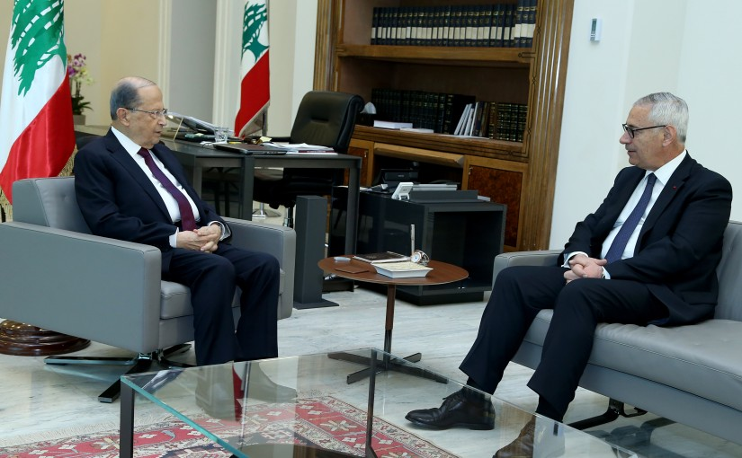 President Michel Aoun meets Judge Jean Fahed.