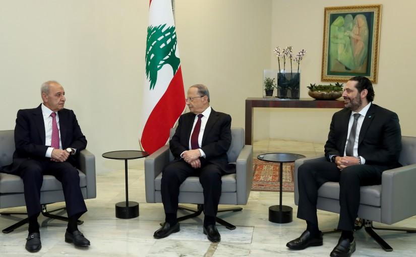 President Michel Aoun Meets House Speaker Nabih Berri & Pr Minister Saad Hariri.