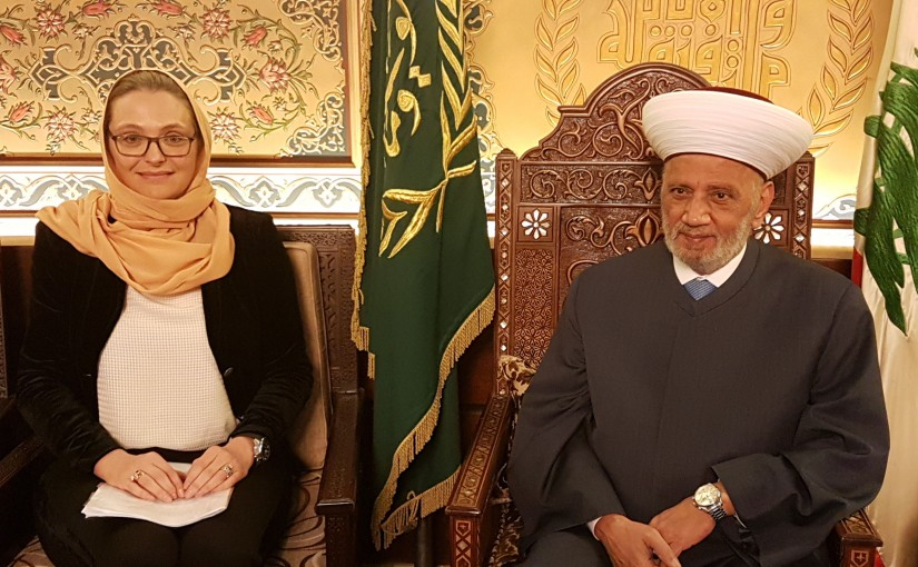 Grand Mufti Abdel Latif Derian Meets Denmark Ambassador
