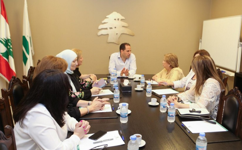 MP Sami Gemayel Meets a Delegation from the Lebanese Women Council