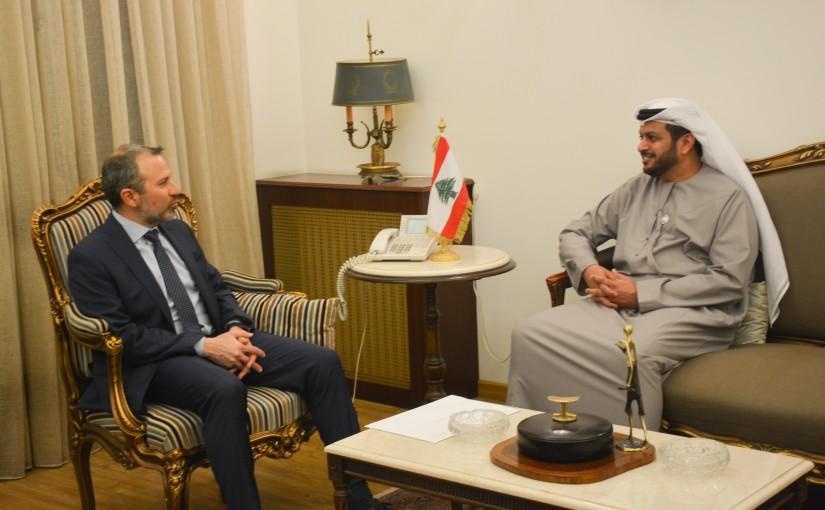 Minister Gebran Basil Meets Emirates Ambassador