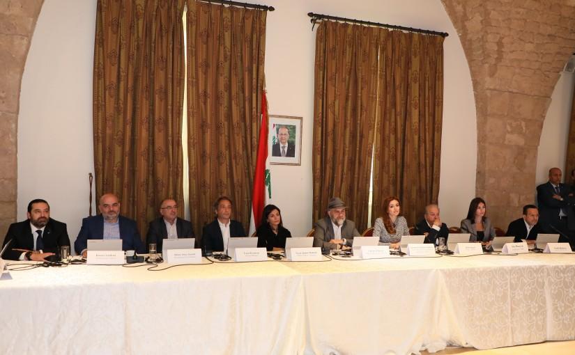 Pr Minister Saad Hariri Attends a Workshop at the Grand Serail