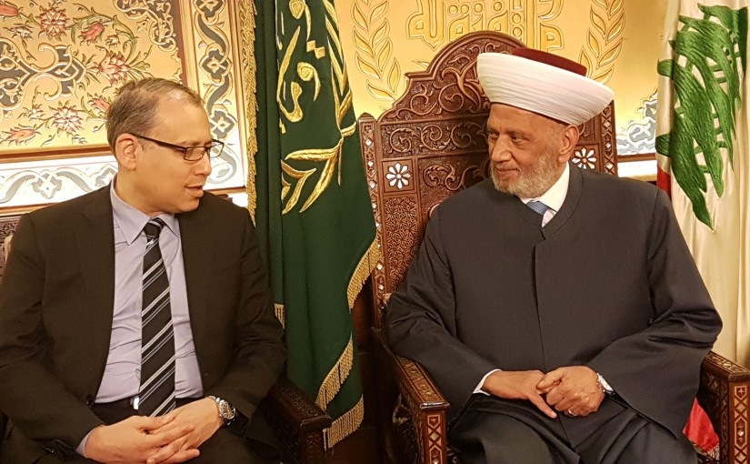 Grand Mufti Abdel Latif Derian Meets Egyptian Ambassador