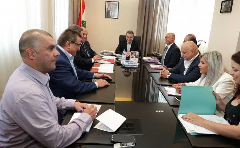 Minister Wael Abou Faour Meets a Delegation From Diary Industries
