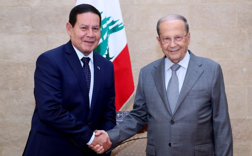 President Michel Aoun meets Vice-President of the Brazilian Republic Mr Antonio Hamilton Martins Mourao With Delegation