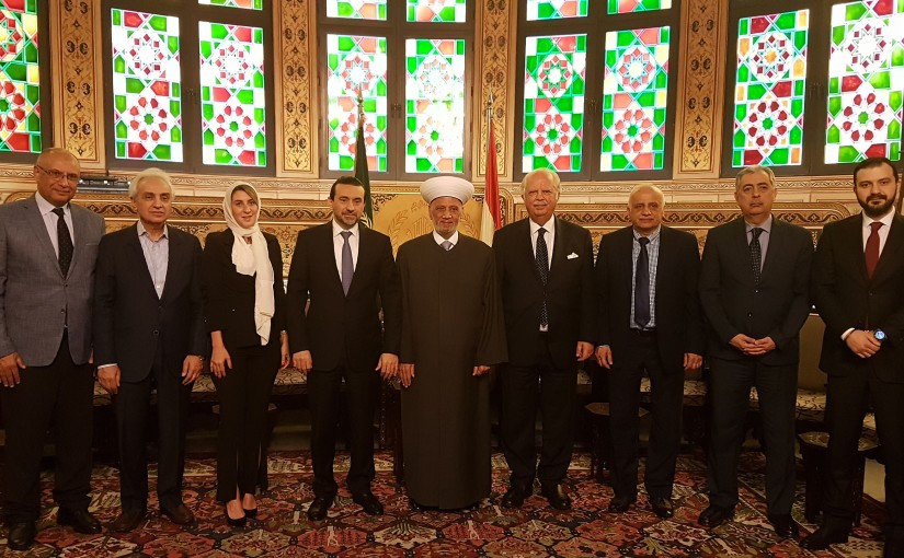 Grand Mufti Abdel Latif Derian Meets a Delegation From Al Mustaqbal