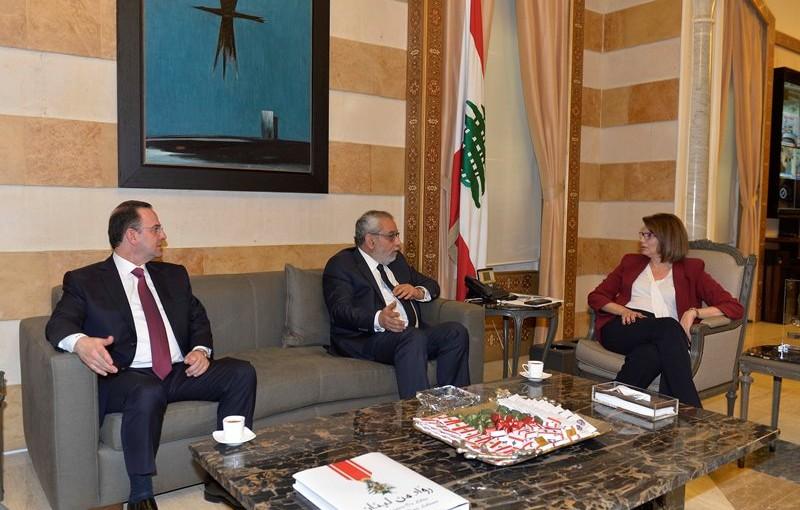 Minister Raya El Hassan Meets Minister Ovadis Kadanian