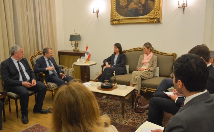 Minister Gebran Basil Meets European Ambassador