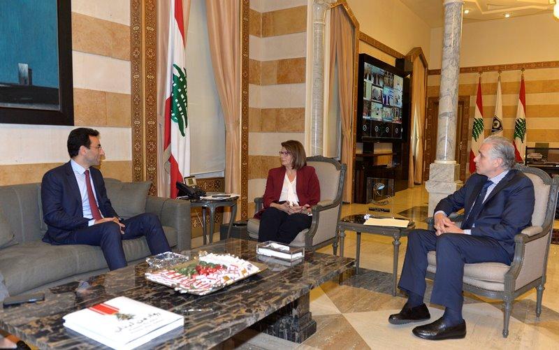 Minister Raya El Hassan Meets Judge Ziad Chebib & Mr Jamal Itani