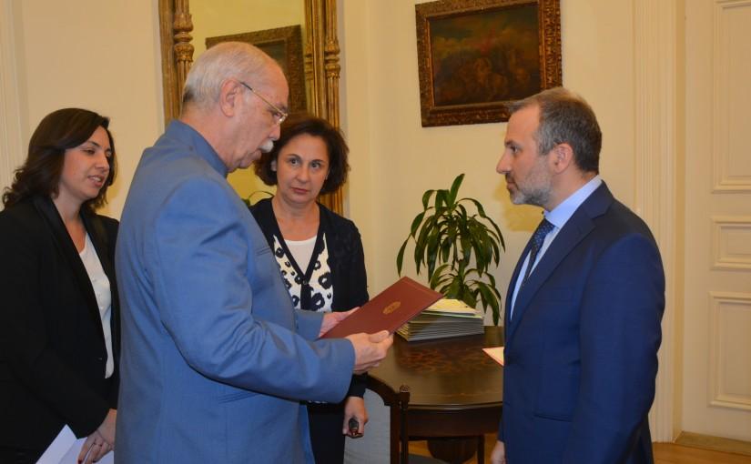 Minister Gebran Basil Meets Venezuela Ambassador