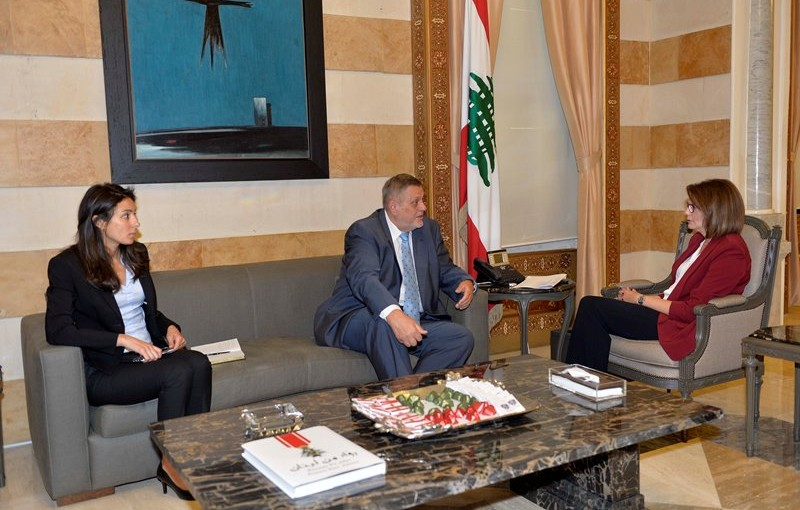 Minister Raya El Hassan Meets United Nations Special Coordinator for Lebanon Jan Kubis