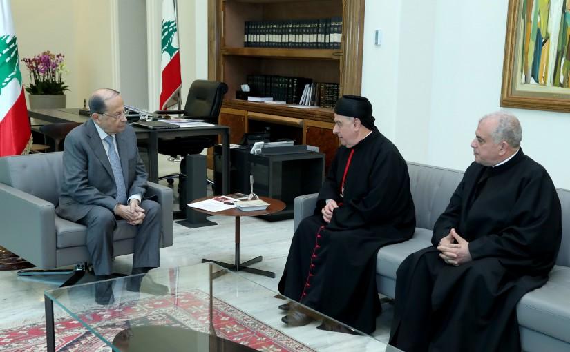 President Michel Aoun meets Bishop Boulos Sayah.