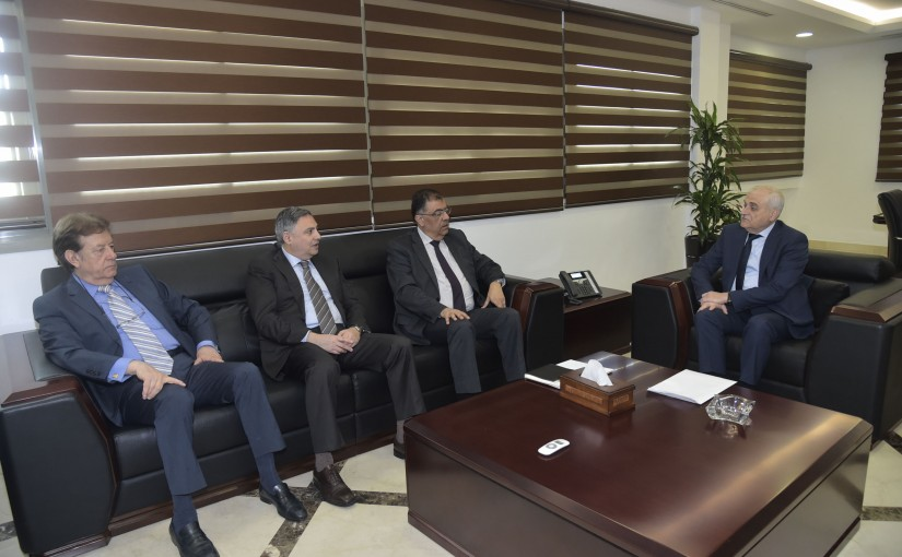 Minister Jamil Jabak meets a Delegation from Private Hospitals