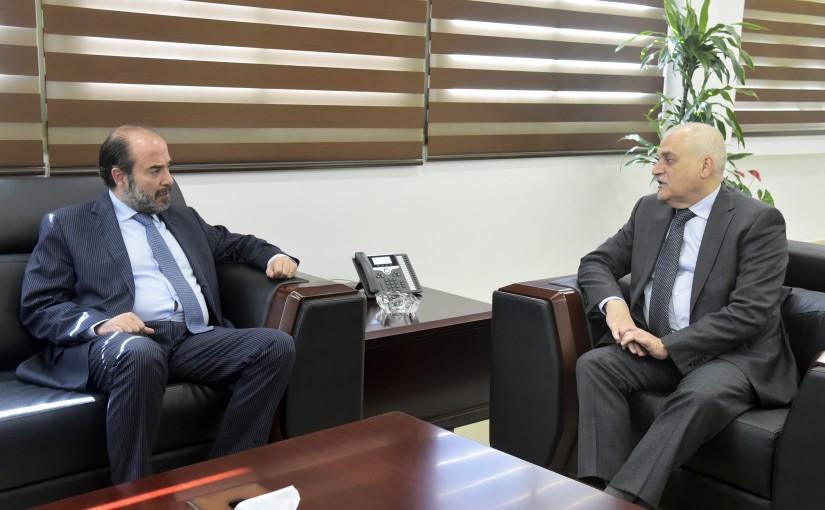 Minister Jamil Jabak meets MP George Akiss