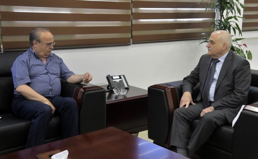 Minister Jamil Jabak meets Former Minister Wiam wahab