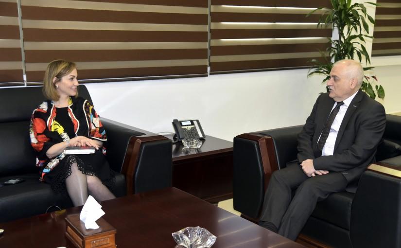 Minister Jamil Jabak meets MP Dima Jamali