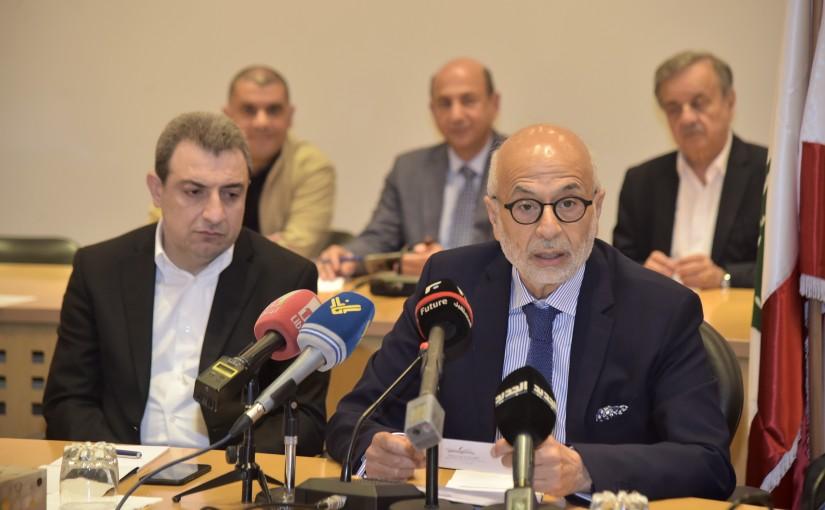 Workshop for Minister Wael Abou Faour at Adnan Kassar Center