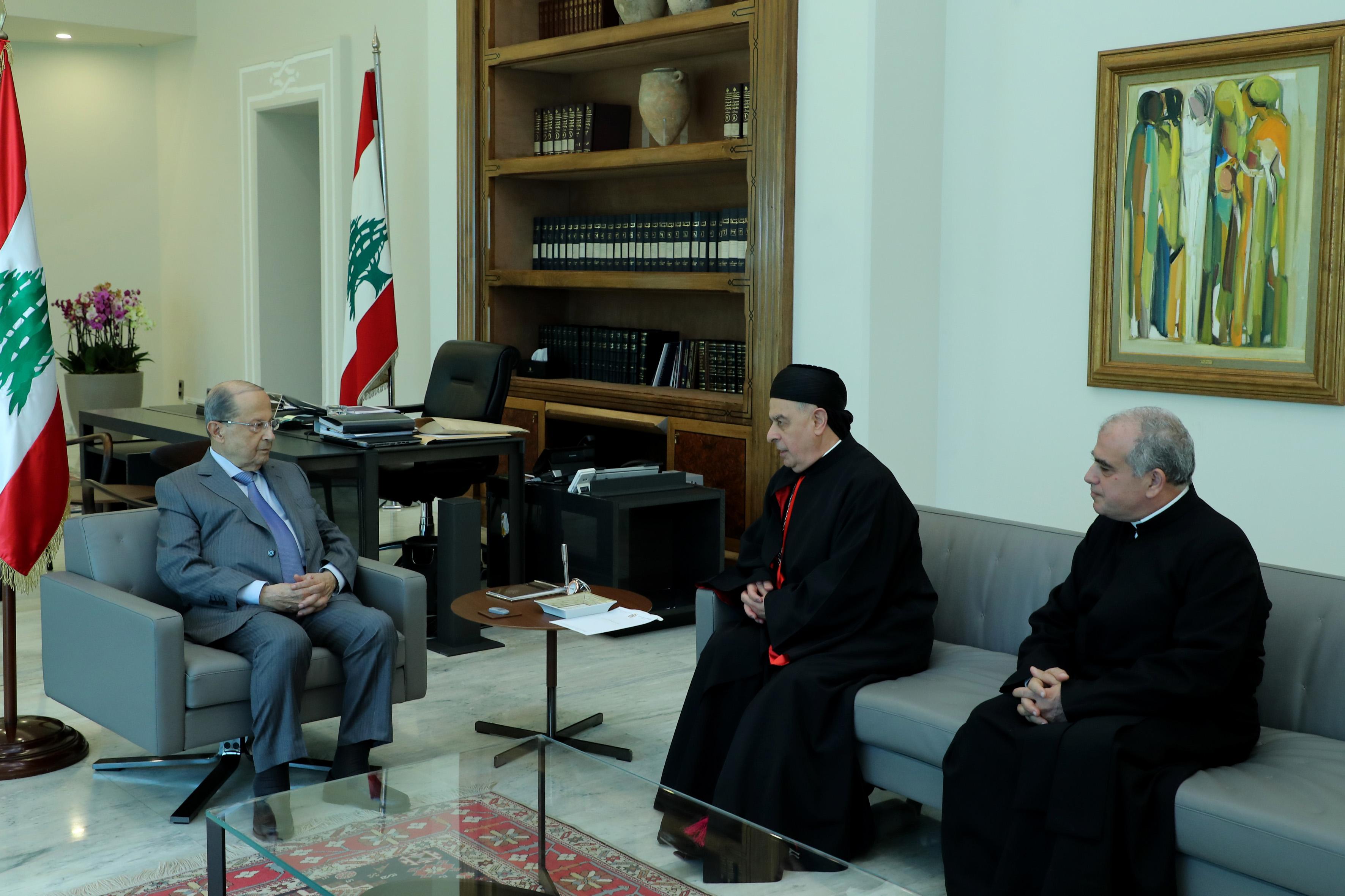 Bishop Boulos Al Sayah  & Father Abdo Abou Kasam