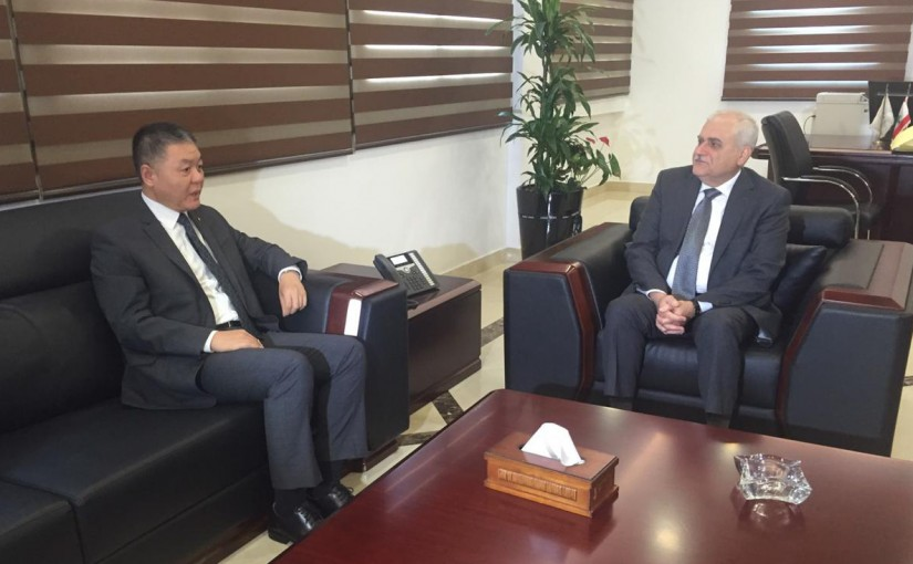 Minister Jamil Jabak Meets Chinese Ambassador