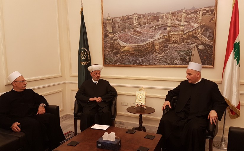 Grand Mufti Abdel Latif Derian Meets Sheikh Ghandi Makarem