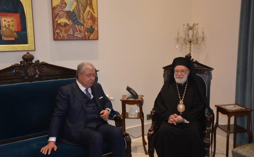 Bishop Elias Audi meets Former Minister Nouhad Machnouk