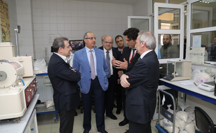 Tours For Minister Wael Abou Faour at Research Center
