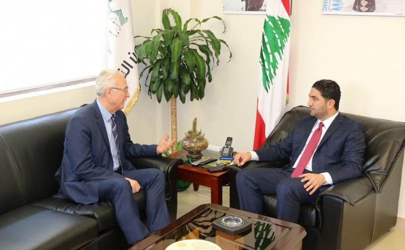 Minister Saleh El Gharib Meets Hungarian Ambassador