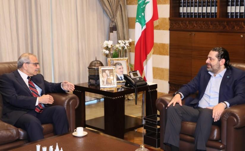 Pr Minister Saad Hariri meets Mr Nawaf Salaam