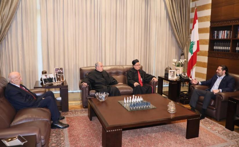 Pr Minister Saad Hariri meets Bishop Hana Elwan