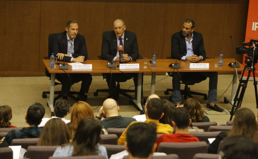 Workshop for Minister Jamal Jarrah at AUB