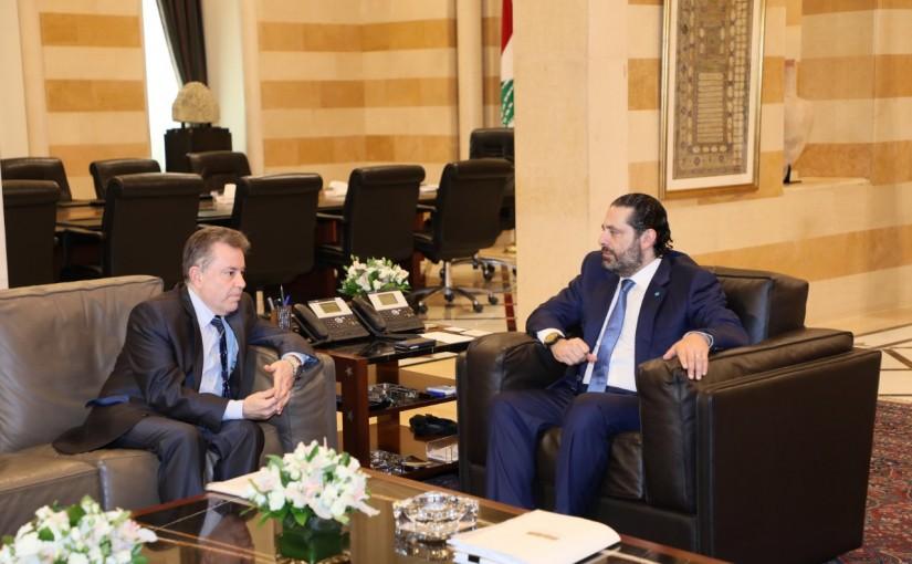 Pr Minister Saad Hariri meets Mr Yehia Khamiss