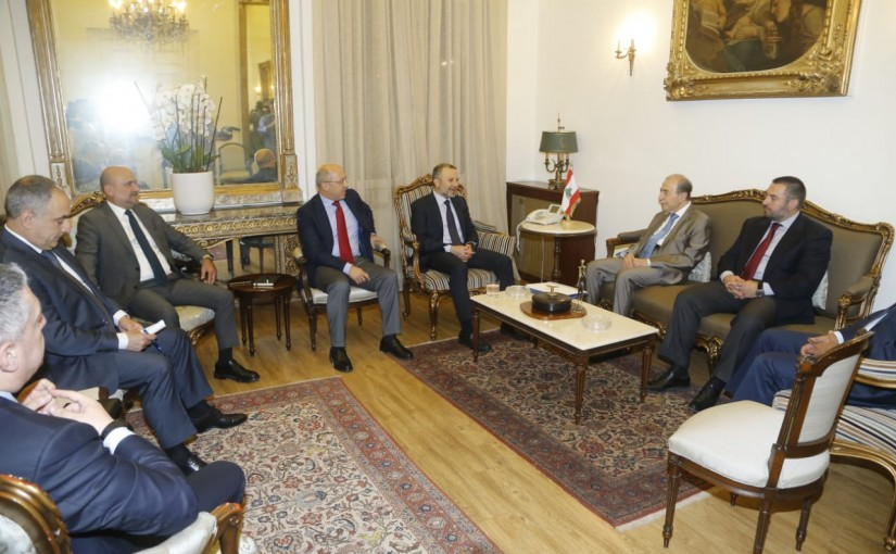Minister Gebran Bassil meets MP Anwar Khalil with a Delegation