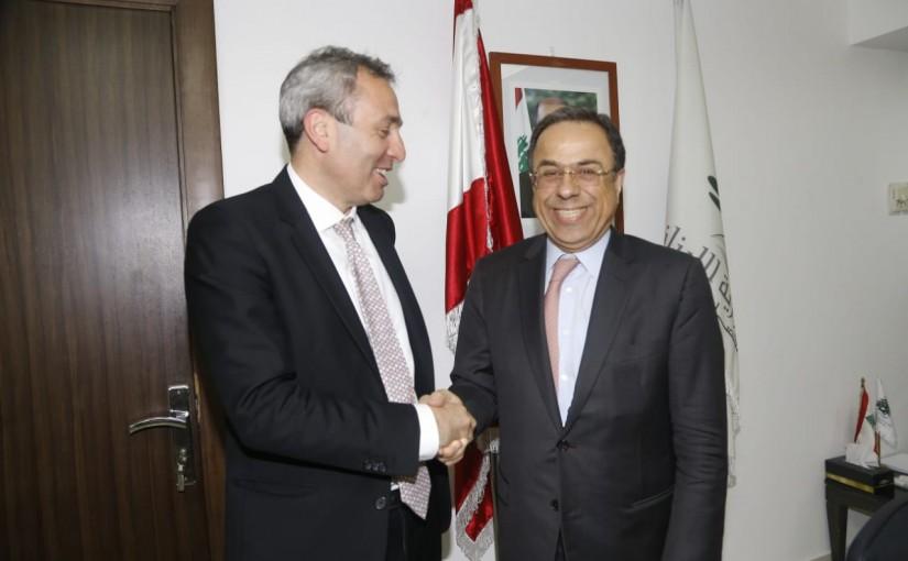 Minister Mansour Bteich meets British Ambassador