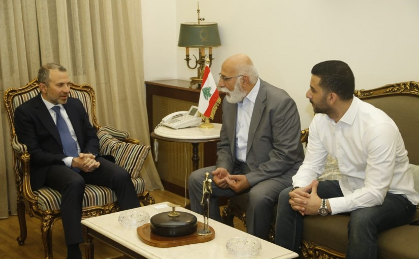 Minister Gebran Bassil meets a Delegation from Family of the Detainees in Emirates