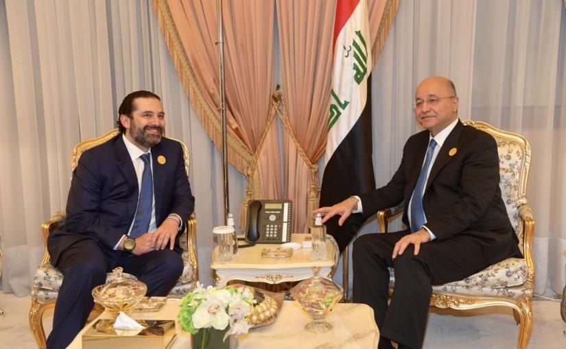 Pr Minister Saad Hariri meets Iraqi President