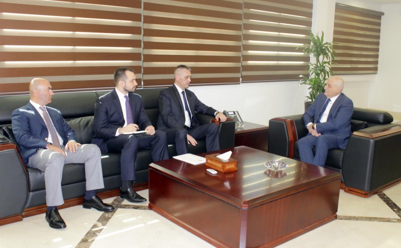 Minister Jamil Jabak meets Belarus Ambassador