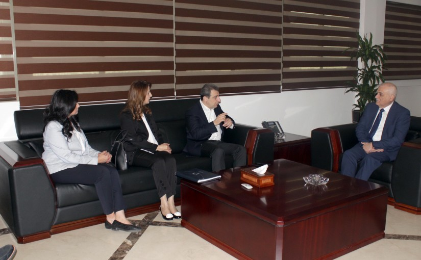 Minister Jamil Jabak meets Minister Wael Abou Faour with a Delegation