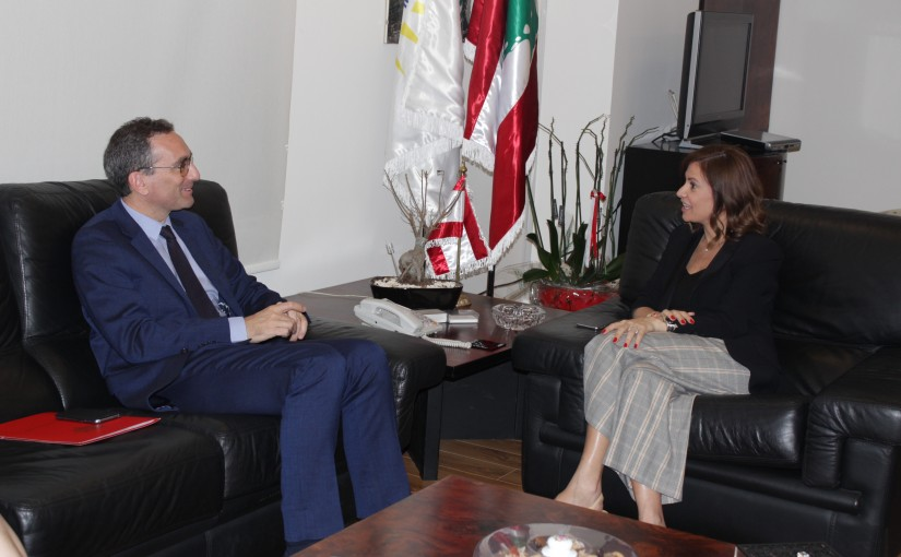 Minister Nada Boustani meets a French Delegation