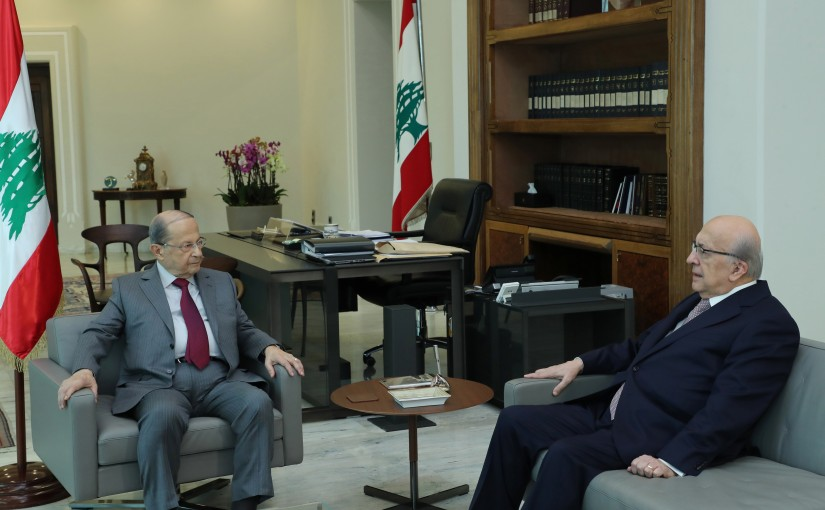 President Michel Aoun meets Mr. Joseph Tarabay.