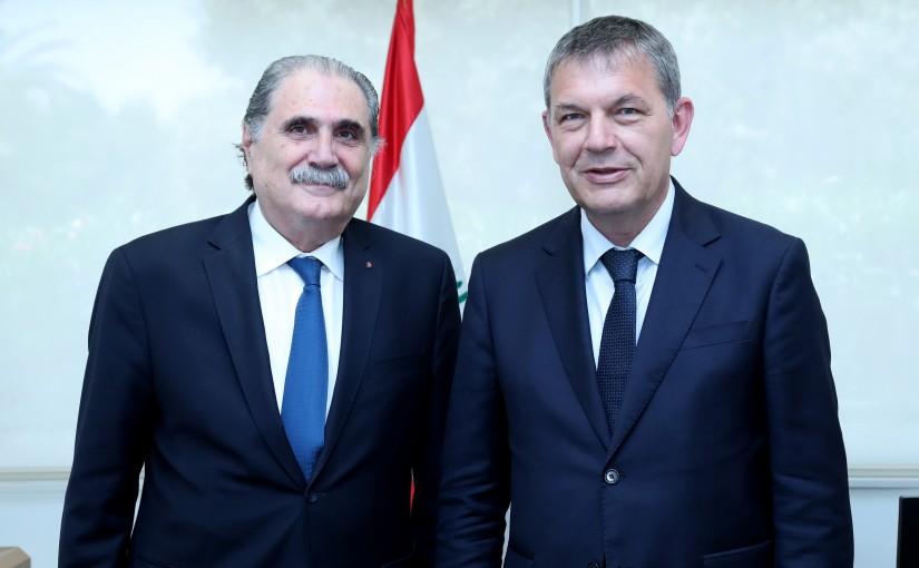 Minister Salim Jereysati meets Mr.Philippe Lazzarini.