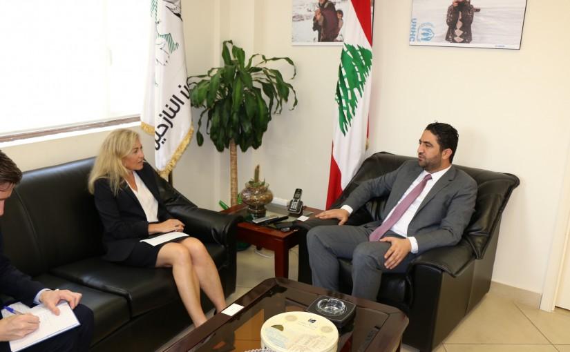 Minister Saleh El Gharib Meets Norway Ambassador