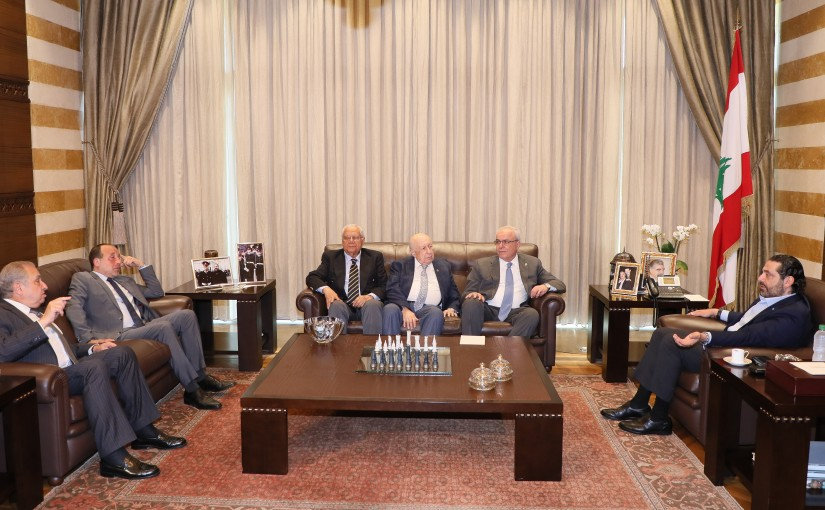 Pr Minister Saad Hariri meets a Delegation from el Makassed