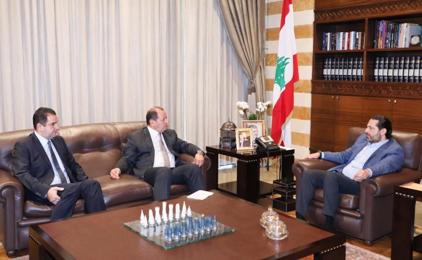 Pr Minister Saad Hariri meets Mr Jean Beiruti